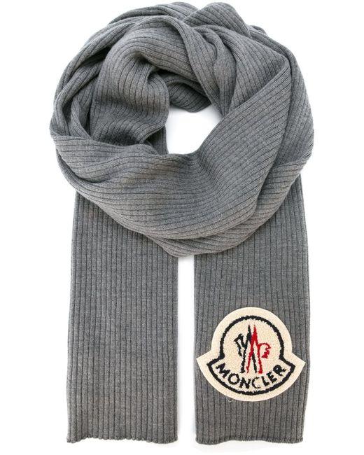 Классический Шарф Moncler                                                                                                              серый цвет