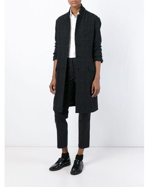 Однобортное Пальто Barena                                                                                                              чёрный цвет