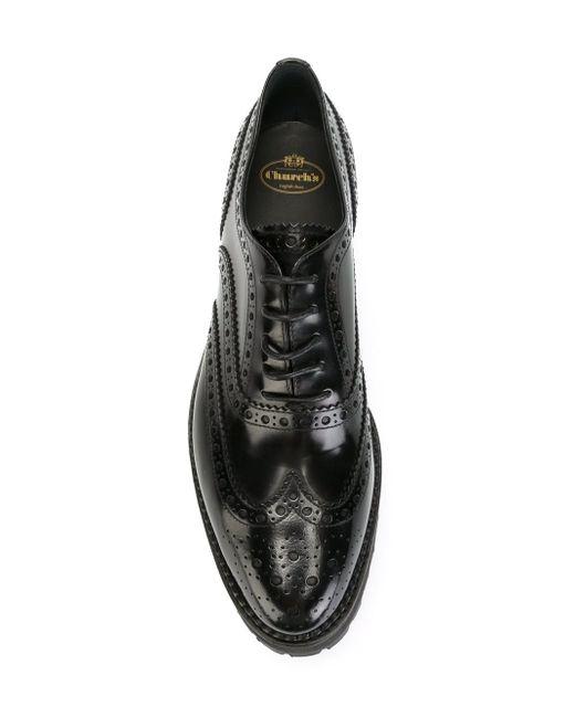 Классические Туфли-Броги Church'S                                                                                                              чёрный цвет