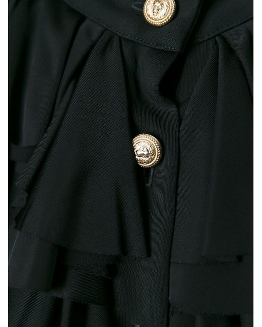 Рубашка С Жабо Balmain                                                                                                              чёрный цвет