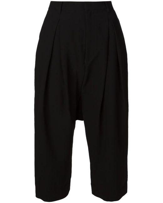 Кюлоты С Заниженной Проймой Comme Des Garçons Noir Kei Ninomiya                                                                                                              чёрный цвет