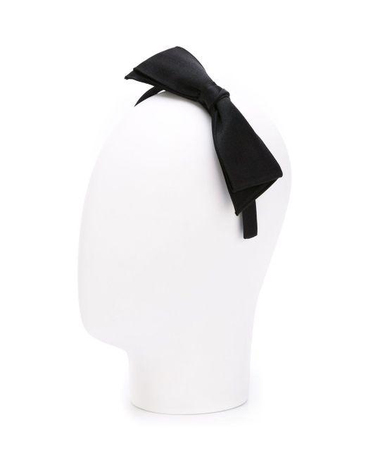 Ободок Для Волос С Бантом Chanel Vintage                                                                                                              чёрный цвет