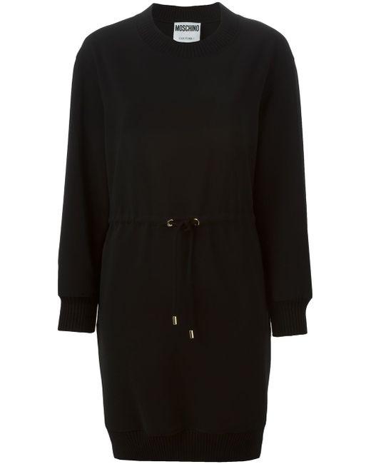 Платье-Свитер С Завязками На Талии Moschino                                                                                                              чёрный цвет