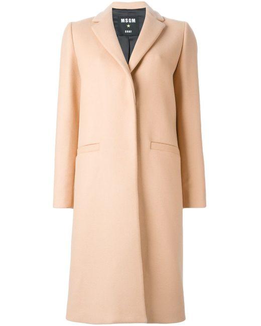 Однобортное Пальто MSGM                                                                                                              Nude & Neutrals цвет