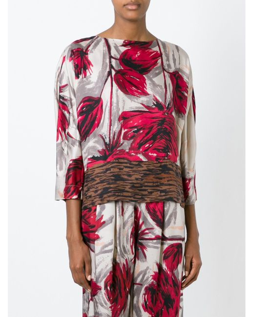 Блузка С Принтом ERIKA CAVALLINI SEMICOUTURE                                                                                                              многоцветный цвет
