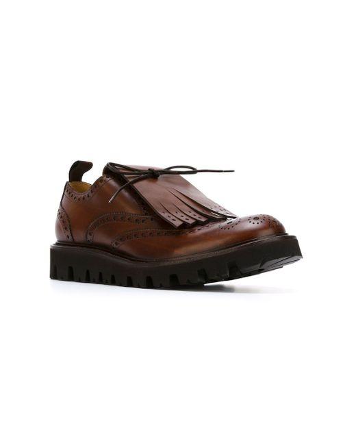 Броги С Бахромой Andrea Pompilio                                                                                                              коричневый цвет