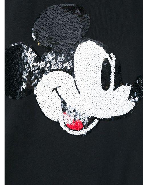 Топ С Вышивкой Микки Мауса Из Пайеток Markus Lupfer                                                                                                              чёрный цвет