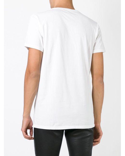 Футболка С Принтом С Логотипом Balmain                                                                                                              белый цвет