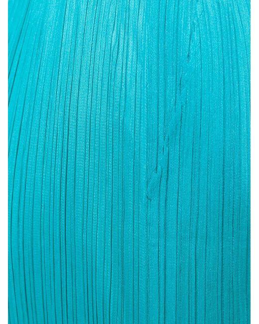 Укороченные Плиссированные Брюки PLEATS PLEASE BY ISSEY MIYAKE                                                                                                              синий цвет