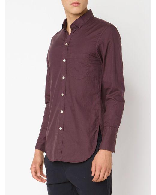 Рубашка С Нагрудным Карманом BED J.W. FORD                                                                                                              красный цвет