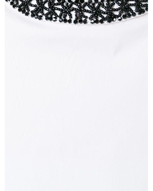 Декорированная Блузка Canard 'S Max Mara                                                                                                              белый цвет