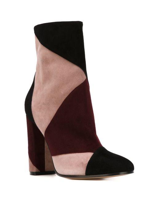 Ботинки С Панельным Дизайном Gianvito Rossi                                                                                                              чёрный цвет