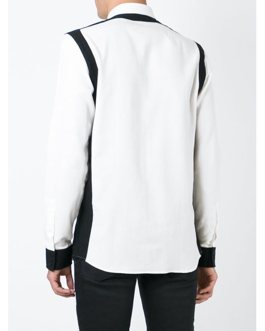Контрастная Рубашка Balmain                                                                                                              чёрный цвет