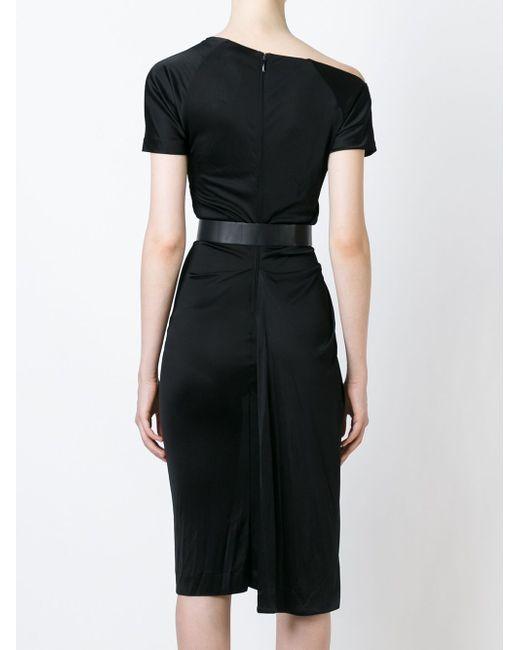 Платье Асимметричного Кроя Dsquared2                                                                                                              чёрный цвет