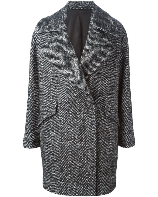 Пальто В Елочку Agatha Tagliatore                                                                                                              серый цвет
