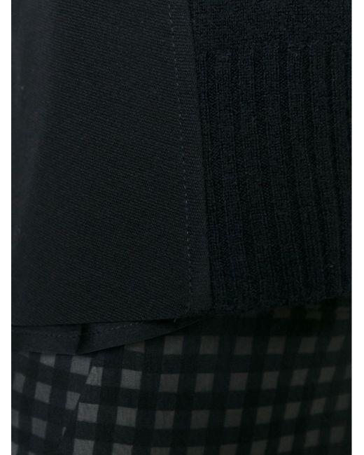 Многослойный Свитер С Короткими Рукавами Dondup                                                                                                              чёрный цвет