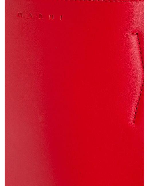 Смука-Шопер В Стиле Колор-Блок Marni                                                                                                              красный цвет