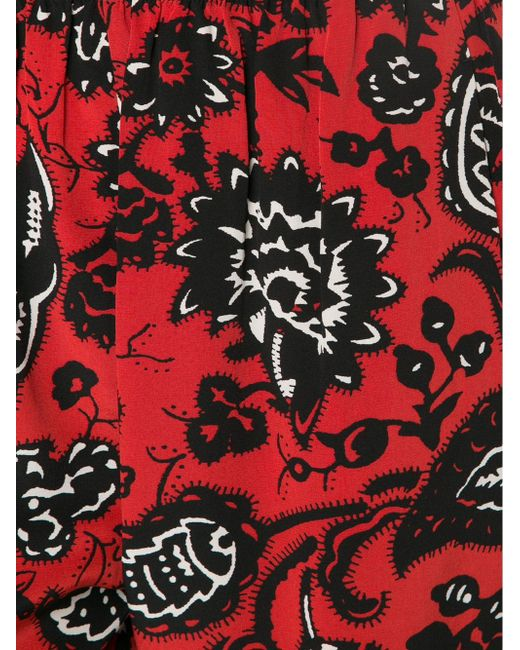 Брюки Свободного Кроя С Цветочным Принтом Vanessa Bruno                                                                                                              красный цвет