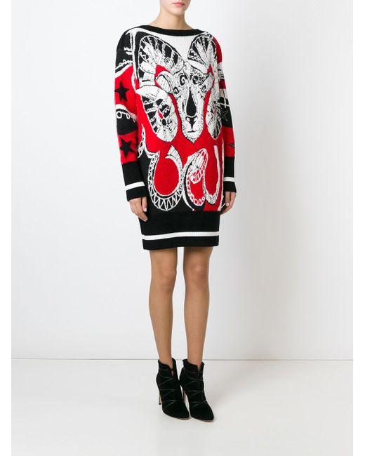 Жаккардовый Свитер-Платье Emilio Pucci                                                                                                              чёрный цвет