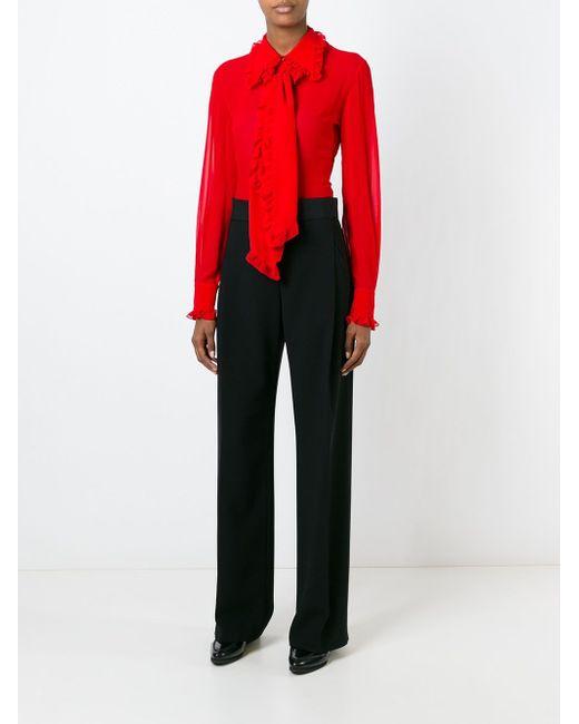 Блузка С Оборками И Жабо Emilio Pucci                                                                                                              красный цвет