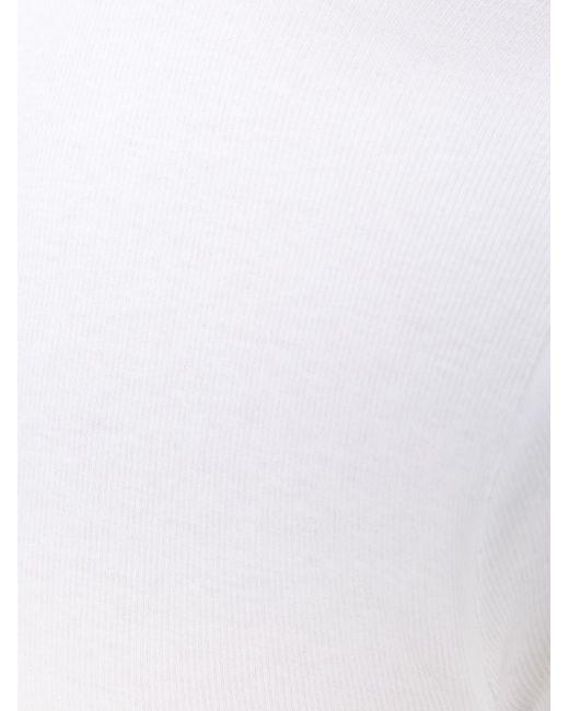 Футболка С Длинными Рукавами Brunello Cucinelli                                                                                                              белый цвет