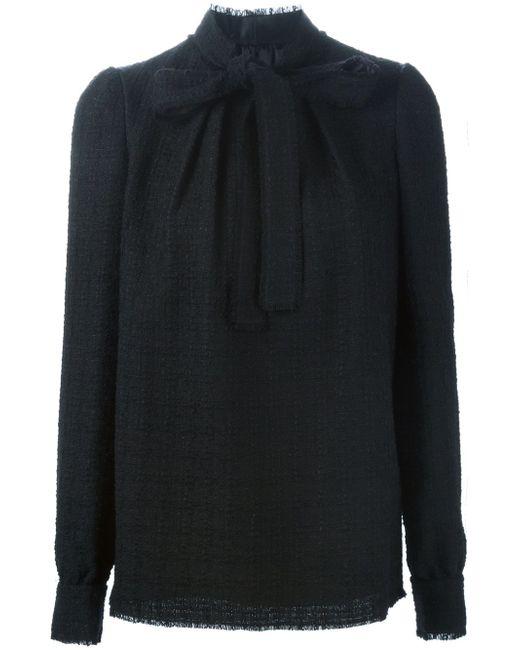 Блузка С Завязкой На Мягкий Бант Dolce & Gabbana                                                                                                              чёрный цвет