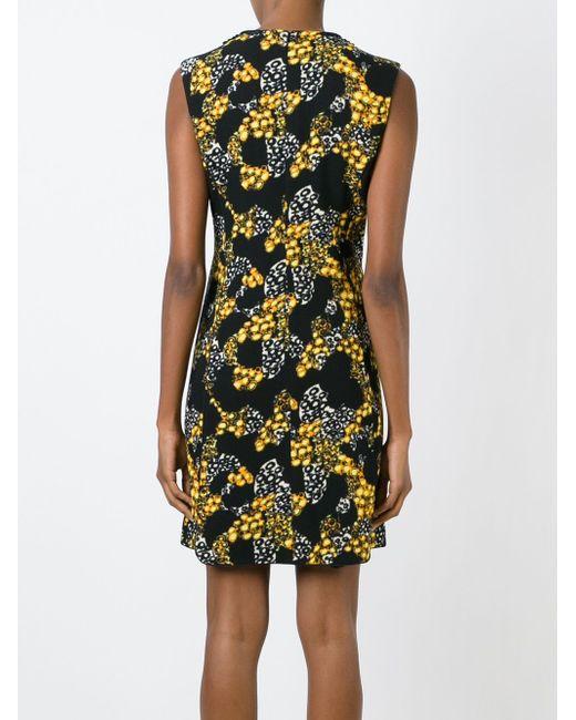 Платье С Декорированным Воротником И Принтом Giambattista Valli                                                                                                              чёрный цвет
