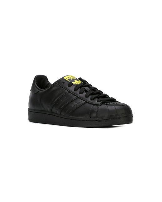 Кроссовки Superstar Pharrell Supershell Adidas Originals by Pharrell Williams                                                                                                              чёрный цвет