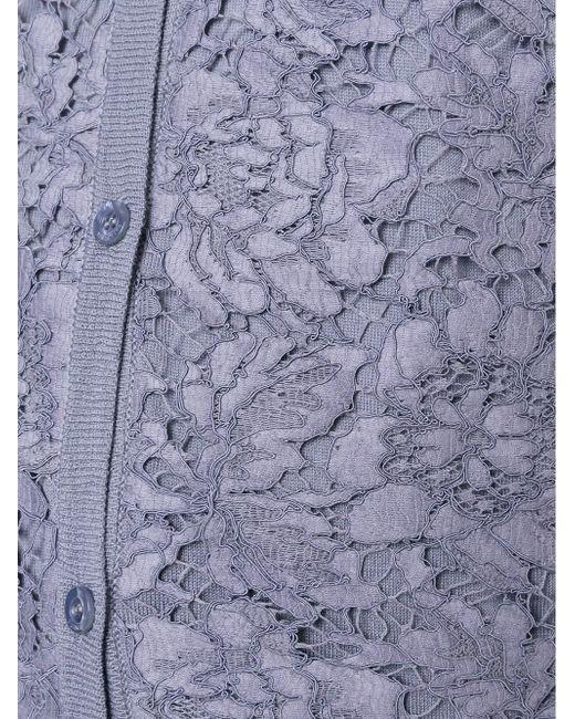 Кардиган С Кружевной Отделкой Valentino                                                                                                              синий цвет