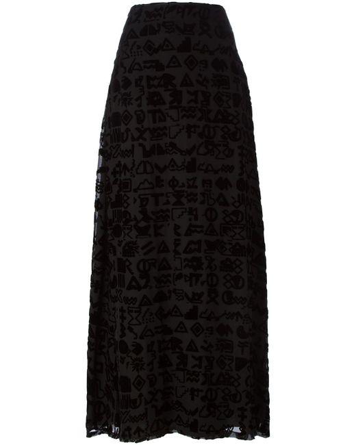 Длинная Юбка Symbols Kenzo                                                                                                              чёрный цвет