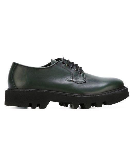 Туфли На Ребристой Подошве Leather Crown                                                                                                              зелёный цвет