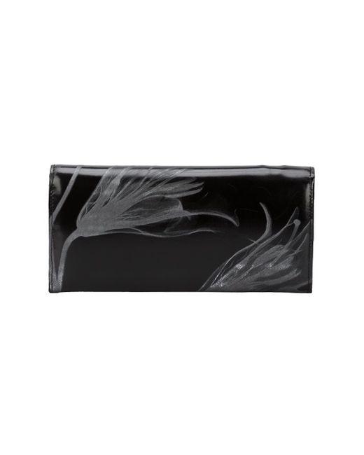 Кошелек С Цветочным Принтом Yohji Yamamoto                                                                                                              чёрный цвет