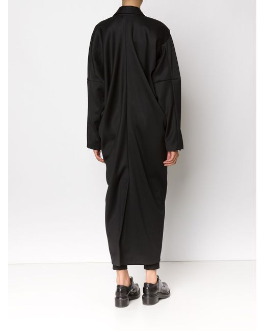 Длинное Драпированное Пальто MOOHONG                                                                                                              чёрный цвет