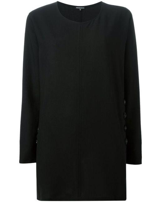 Блузка С Декоративными Пуговицами Ann Demeulemeester                                                                                                              чёрный цвет