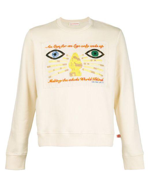 Толстовка С Вышивкой WALTER VAN BEIRENDONCK VINTAGE                                                                                                              белый цвет
