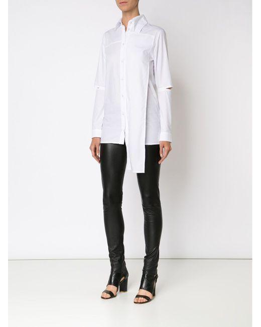 Asymmetric Cut-Out Shirt Barbara I Gongini                                                                                                              белый цвет