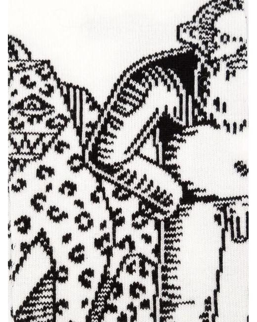 Носки В Технике Интарсия WALTER VAN BEIRENDONCK VINTAGE                                                                                                              белый цвет