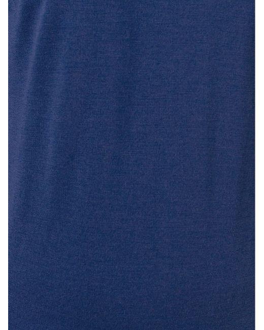 Свитер С Круглым Вырезом John Smedley                                                                                                              синий цвет