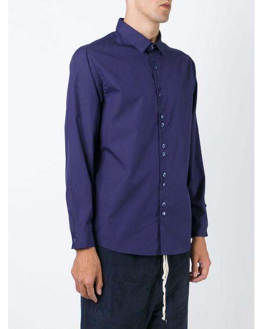 Рубашка С Двойными Пуговицами BY WALID                                                                                                              синий цвет