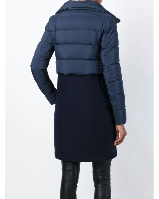 Куртка С Дутой Вставкой Herno                                                                                                              синий цвет