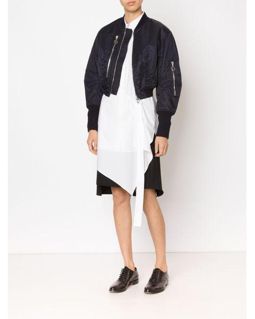 Укороченная Куртка-Бомбер 3.1 Phillip Lim                                                                                                              чёрный цвет