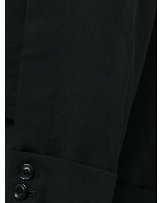 Buttoned Cuff Trousers Yohji Yamamoto                                                                                                              чёрный цвет