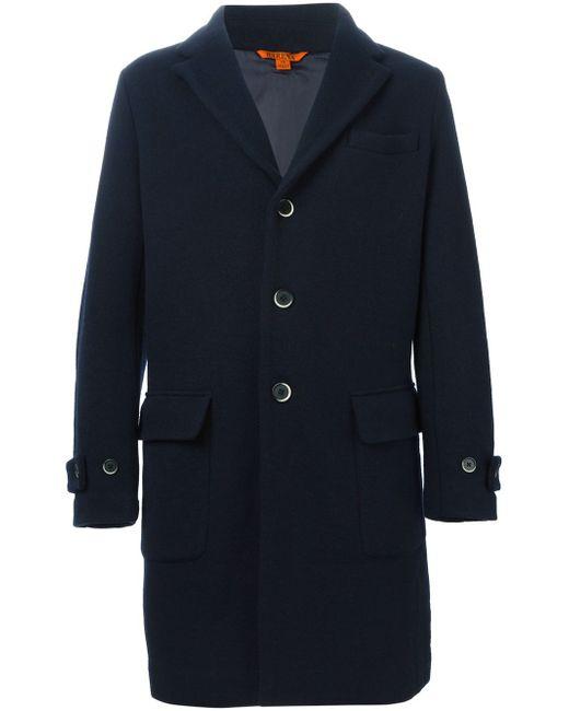 Классическое Однобортное Пальто Barena                                                                                                              синий цвет