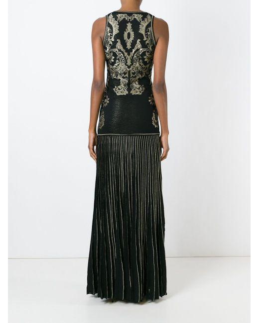 Вечернее Платье С Вышивкой Roberto Cavalli                                                                                                              чёрный цвет