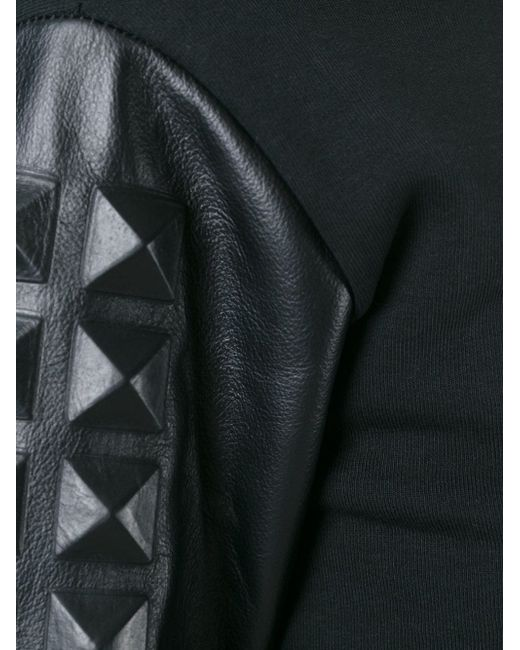 Толстовка С Заклепками-Пирамидками На Рукавах Philipp Plein                                                                                                              чёрный цвет