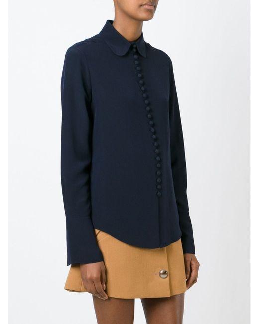Блузка На Пуговицах Chloe                                                                                                              синий цвет