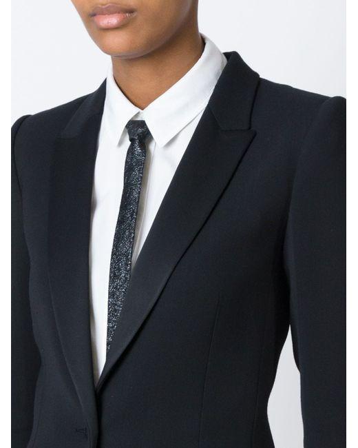 Фактурный Тонкий Галстук Saint Laurent                                                                                                              чёрный цвет