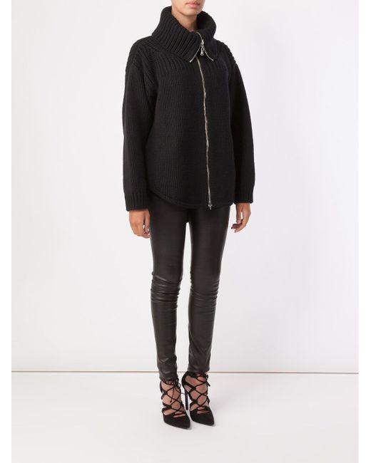 Вязаная Куртка Alexander McQueen                                                                                                              чёрный цвет