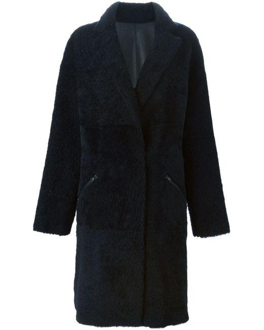 Двухстороннее Пальто 32 PARADIS SPRUNG FRERES                                                                                                              синий цвет