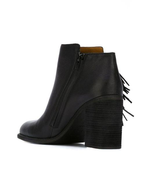 Ботинки По Щиколотку С Бахромой See By Chloe                                                                                                              чёрный цвет